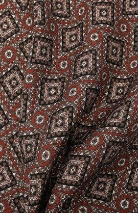 Мужской шелковый платок BRIONI коричневого цвета, арт. 071000/01448   Фото 2