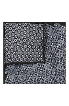 Мужской шелковый платок BRIONI синего цвета, арт. 071000/01448 | Фото 1 (Материал: Текстиль, Шелк)