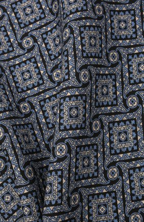 Мужской шелковый платок BRIONI синего цвета, арт. 071000/01448 | Фото 2 (Материал: Текстиль, Шелк)