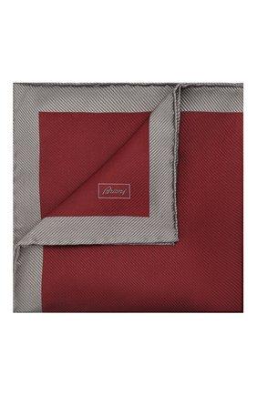 Мужской шелковый платок BRIONI бордового цвета, арт. 071000/01447   Фото 1