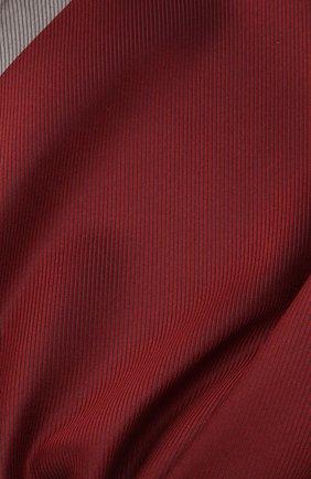 Мужской шелковый платок BRIONI бордового цвета, арт. 071000/01447   Фото 2