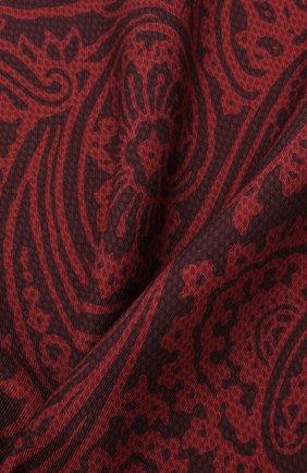 Мужской шелковый платок BRIONI бордового цвета, арт. 071000/01439   Фото 2