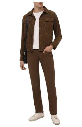 Мужская хлопковая куртка TOM FORD коричневого цвета, арт. BYJ39/TFD116 | Фото 2 (Рукава: Длинные; Длина (верхняя одежда): Короткие; Материал внешний: Хлопок; Кросс-КТ: Куртка, Ветровка; Стили: Кэжуэл)