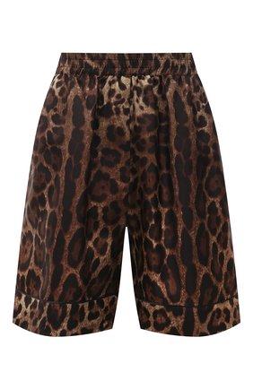Женские шелковые шорты DOLCE & GABBANA леопардового цвета, арт. FTAM7T/HS1ZX   Фото 1