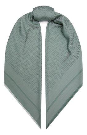 Женский платок BOSS зеленого цвета, арт. 50448987 | Фото 1