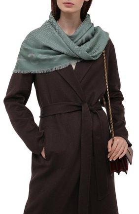 Женский платок BOSS зеленого цвета, арт. 50448987 | Фото 2