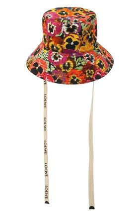 Женская хлопковая панама LOEWE разноцветного цвета, арт. K820HF1X20 | Фото 1 (Материал: Хлопок, Текстиль)