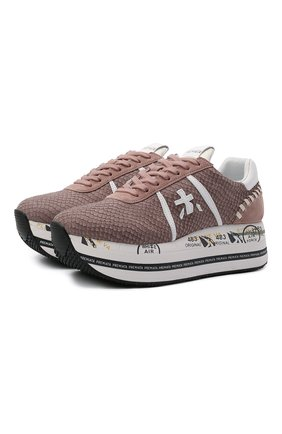 Женские комбинированные кроссовки beth PREMIATA темно-розового цвета, арт. BETH/VAR5342 | Фото 1