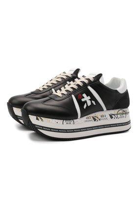 Женские комбинированные кроссовки beth PREMIATA черно-белого цвета, арт. BETH/VAR5351 | Фото 1