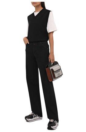 Женские комбинированные кроссовки beth PREMIATA черно-белого цвета, арт. BETH/VAR5351 | Фото 2