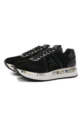 Женские комбинированные кроссовки conny PREMIATA черного цвета, арт. C0NNY/VAR5330 | Фото 1