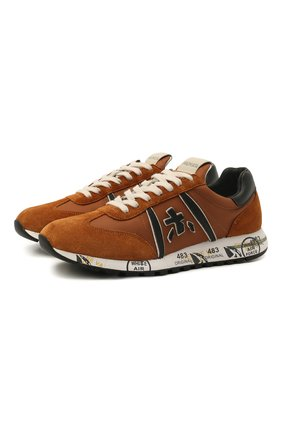 Женские комбинированные кроссовки lucy-d PREMIATA коричневого цвета, арт. LUCYD/VAR5308 | Фото 1