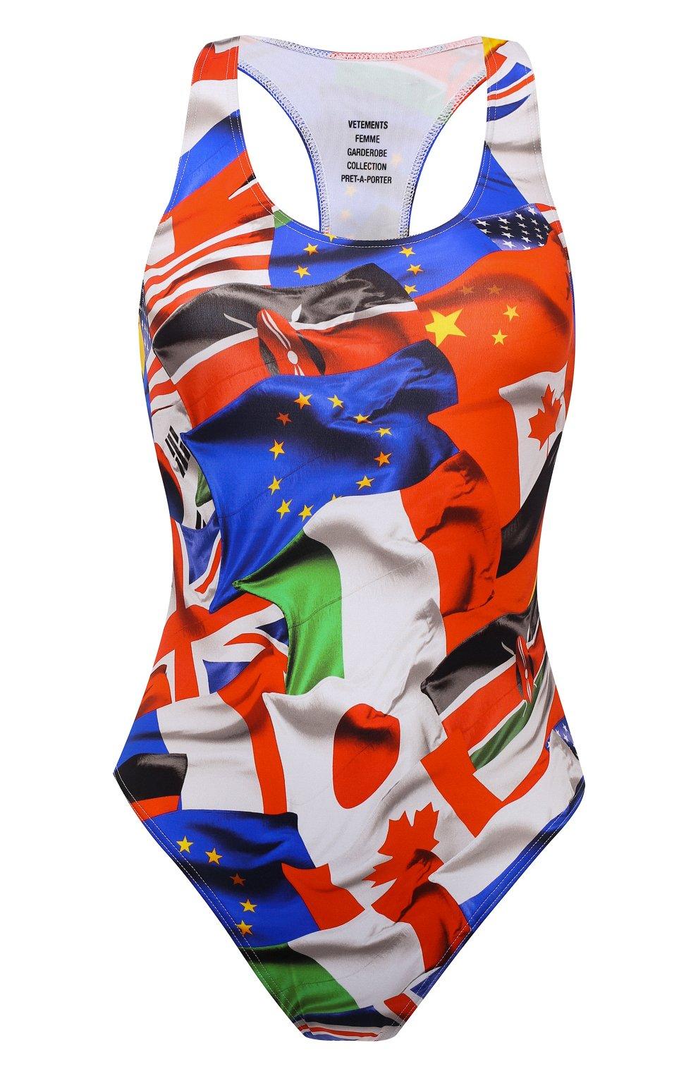 Женский слитный купальник VETEMENTS разноцветного цвета, арт. WA52TR410F 1332/FLAGS   Фото 1