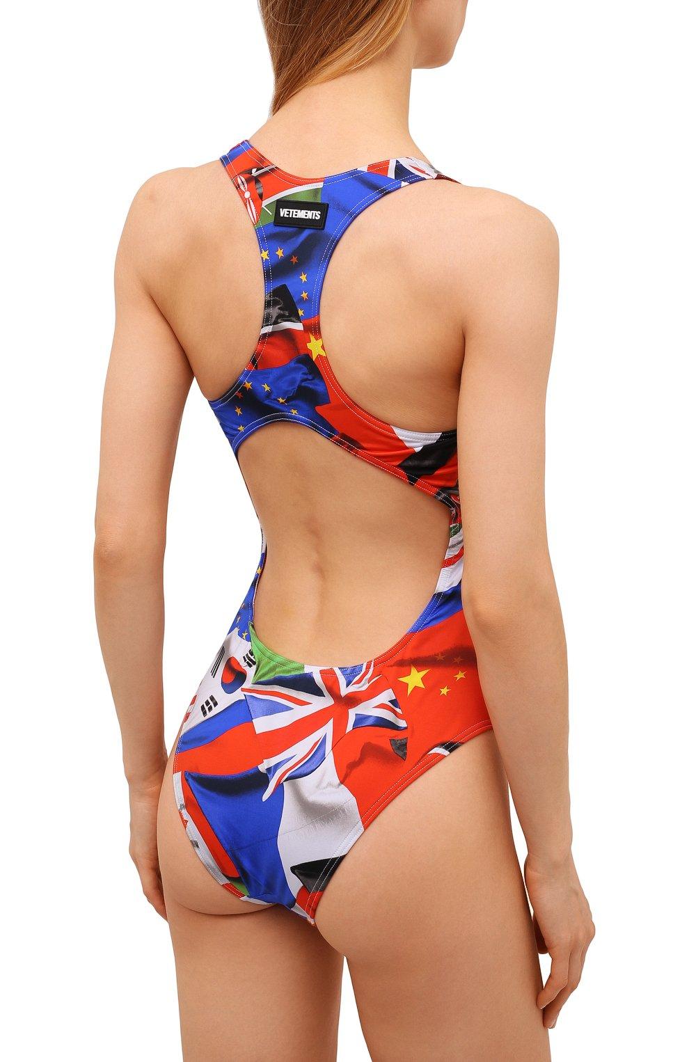 Женский слитный купальник VETEMENTS разноцветного цвета, арт. WA52TR410F 1332/FLAGS   Фото 3