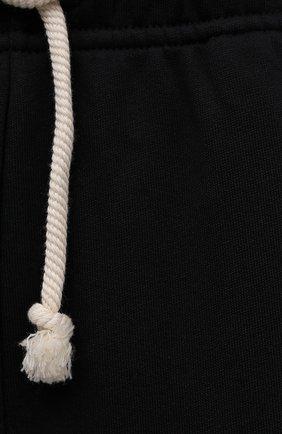Женские хлопковые шорты ACNE STUDIOS черного цвета, арт. CE0015/W | Фото 5 (Женское Кросс-КТ: Шорты-одежда; Кросс-КТ: Трикотаж; Материал внешний: Хлопок; Стили: Спорт-шик; Длина Ж (юбки, платья, шорты): Миди)