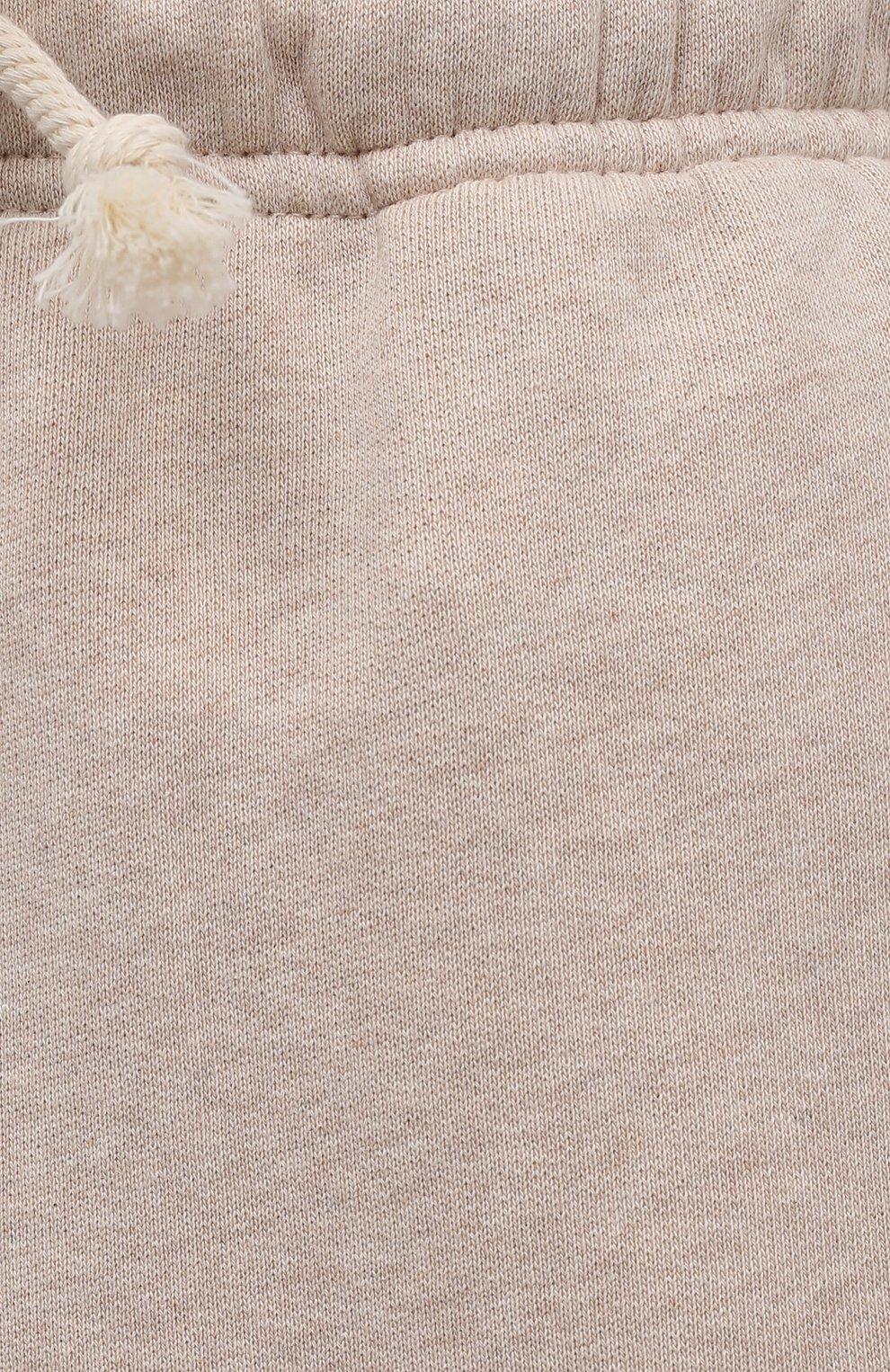 Женские хлопковые шорты ACNE STUDIOS светло-бежевого цвета, арт. CE0015/W | Фото 5 (Женское Кросс-КТ: Шорты-одежда; Кросс-КТ: Трикотаж; Материал внешний: Хлопок; Стили: Спорт-шик; Длина Ж (юбки, платья, шорты): Миди)