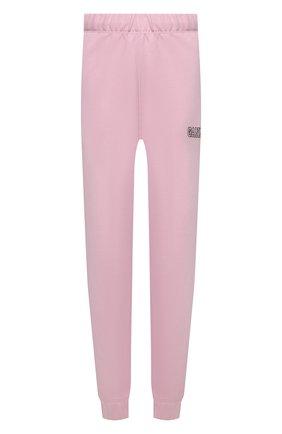 Женские хлопковые джоггеры GANNI светло-розового цвета, арт. T2925   Фото 1