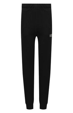 Женские хлопковые джоггеры GANNI черного цвета, арт. T2925   Фото 1 (Материал внешний: Синтетический материал, Хлопок; Стили: Спорт-шик; Женское Кросс-КТ: Джоггеры - брюки, Брюки-спорт; Длина (брюки, джинсы): Стандартные; Силуэт Ж (брюки и джинсы): Джоггеры)