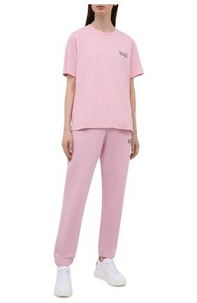 Женская футболка GANNI светло-розового цвета, арт. T2917   Фото 2