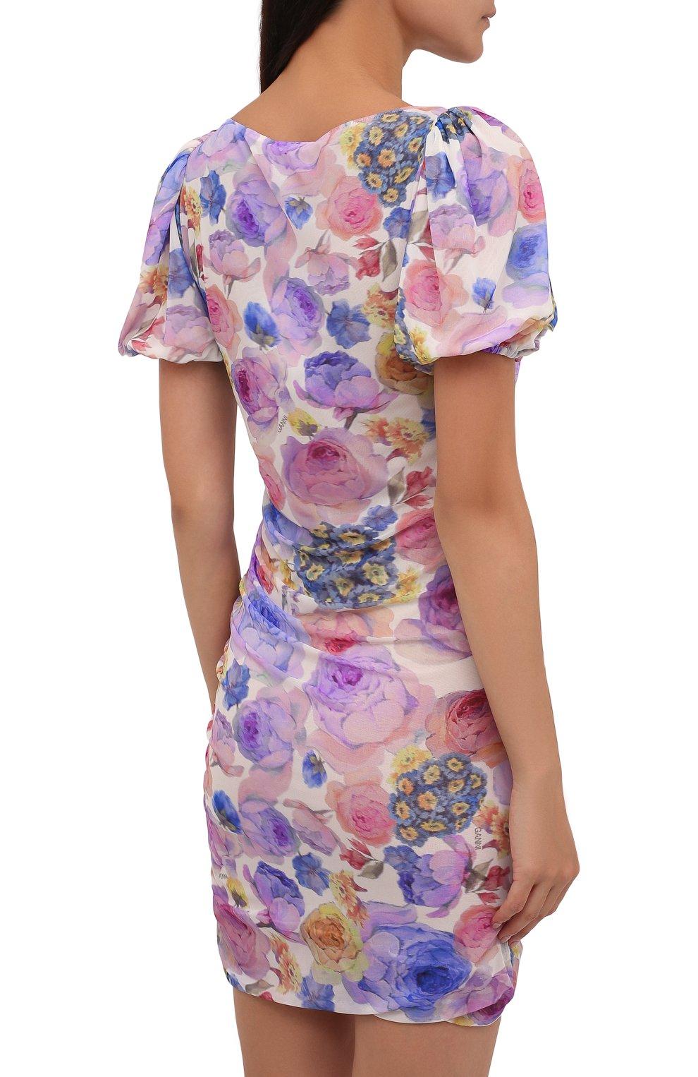 Женское платье GANNI разноцветного цвета, арт. T2891   Фото 4