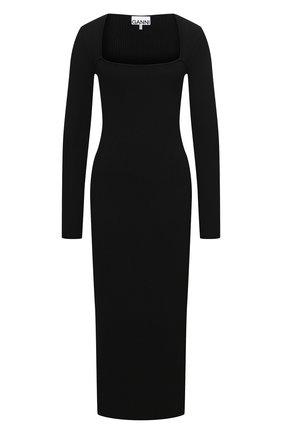 Женское платье GANNI черного цвета, арт. K1544   Фото 1