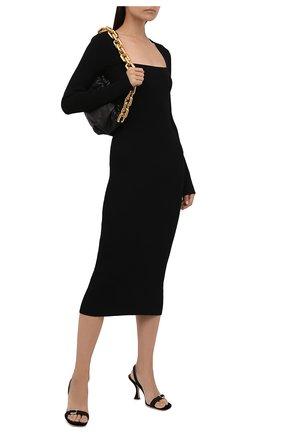 Женское платье GANNI черного цвета, арт. K1544   Фото 2