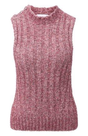 Женский жилет GANNI розового цвета, арт. K1533   Фото 1