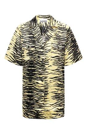 Женская рубашка GANNI желтого цвета, арт. F6112   Фото 1