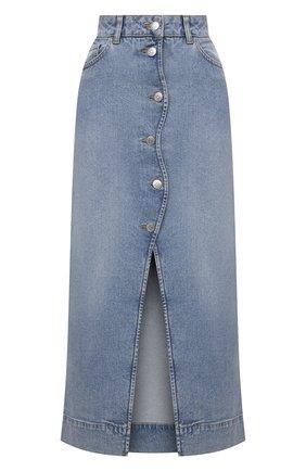 Женская джинсовая юбка GANNI голубого цвета, арт. F6022   Фото 1