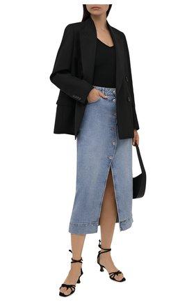 Женская джинсовая юбка GANNI голубого цвета, арт. F6022   Фото 2