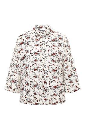 Женская рубашка из вискозы GANNI кремвого цвета, арт. F5987   Фото 1