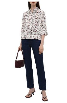 Женская рубашка из вискозы GANNI кремвого цвета, арт. F5987   Фото 2