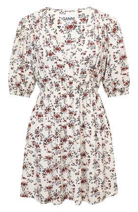 Женское платье из вискозы GANNI кремвого цвета, арт. F5986   Фото 1