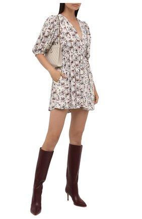Женское платье из вискозы GANNI кремвого цвета, арт. F5986   Фото 2