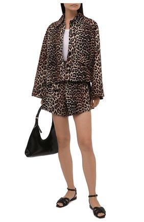 Женский жакет изо льна и хлопка GANNI леопардового цвета, арт. F5956   Фото 2