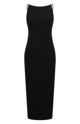 Женское хлопковое платье JAMES PERSE черного цвета, арт. WJE6623 | Фото 1