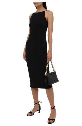 Женское хлопковое платье JAMES PERSE черного цвета, арт. WJE6623 | Фото 2