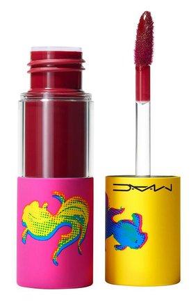Блеск для губ versicolour varnish cream lip stain, no interruptions (8.5ml) MAC бесцветного цвета, арт. SLAE-06   Фото 1