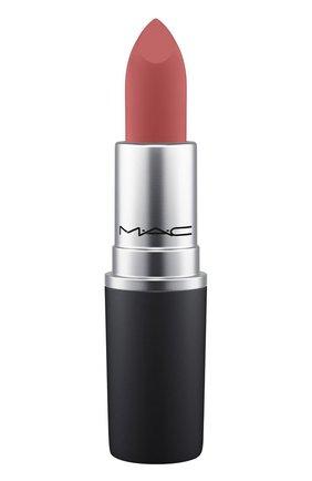 Губная помада powder kiss lipstick, оттенок brickthrough (3g) MAC бесцветного цвета, арт. S4K0-45   Фото 1