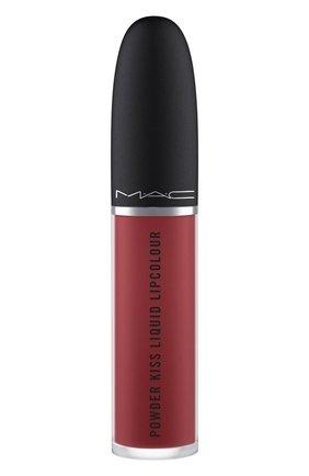 Жидкая помада powder kiss, оттенок fashion emergency (5ml) MAC бесцветного цвета, арт. SJC2-27   Фото 1