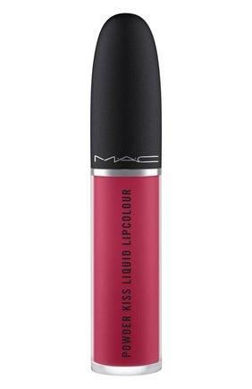Жидкая помада powder kiss, оттенок elegance is learned (5ml) MAC бесцветного цвета, арт. SJC2-23   Фото 2