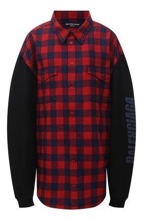 Женская хлопковая куртка BALENCIAGA красного цвета, арт. 658936/TBM23 | Фото 1