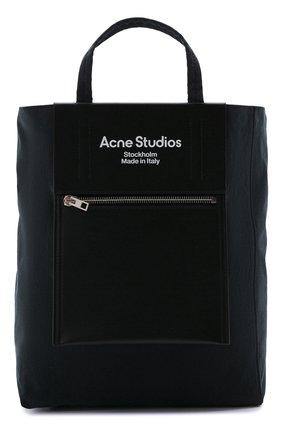 Женский сумка-шопер baker out medium ACNE STUDIOS темно-синего цвета, арт. C10069/W | Фото 1 (Ремень/цепочка: На ремешке; Размер: medium; Материал: Текстиль; Сумки-технические: Сумки-шопперы)