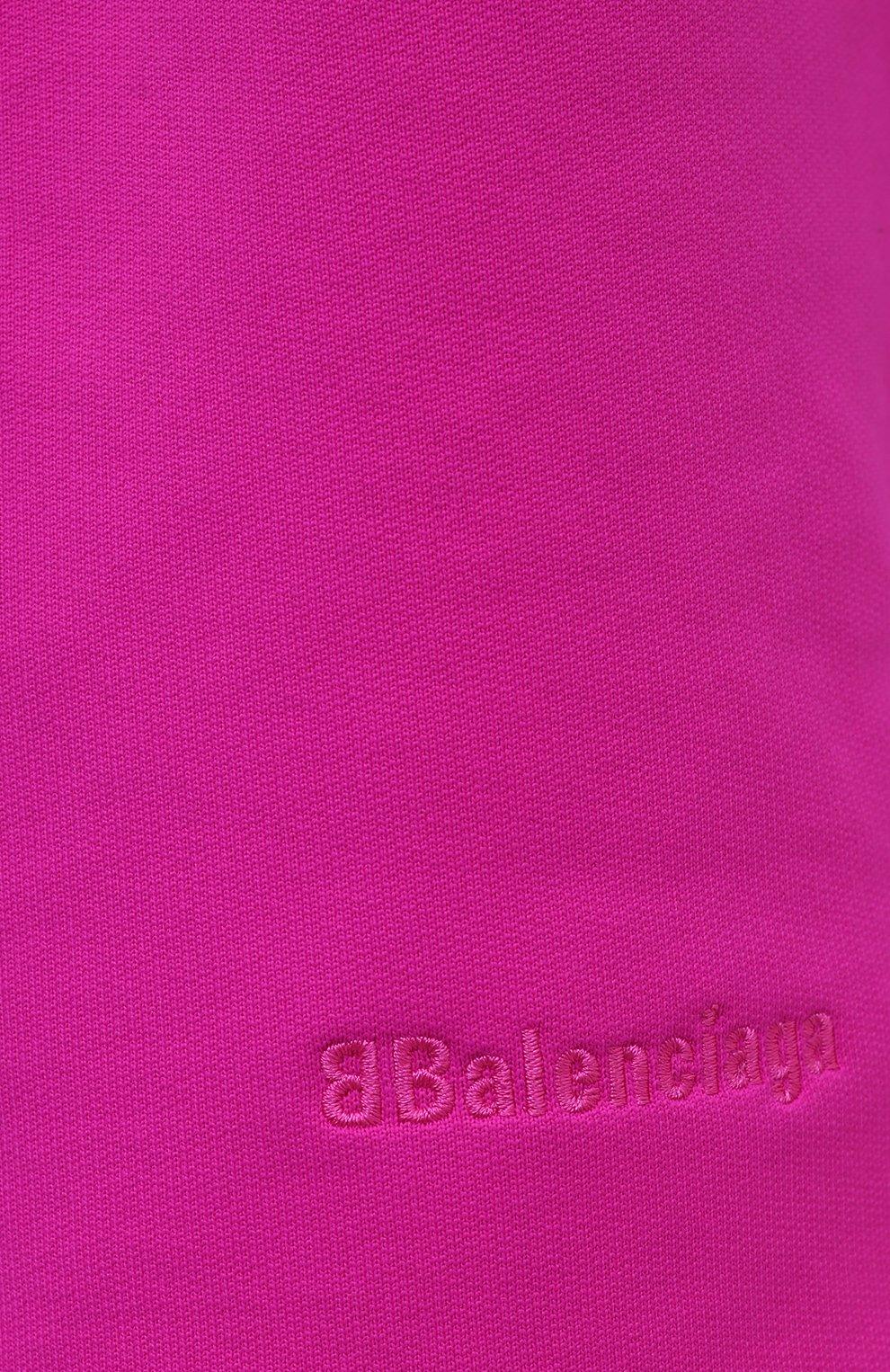 Женские шорты BALENCIAGA фуксия цвета, арт. 657062/TKVK6 | Фото 5 (Женское Кросс-КТ: Шорты-одежда; Материал внешний: Синтетический материал, Хлопок; Стили: Спорт-шик; Длина Ж (юбки, платья, шорты): Миди)