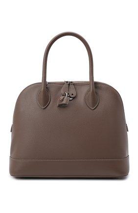 Женская сумка ville small BALENCIAGA коричневого цвета, арт. 645011/1Y53Y | Фото 1 (Размер: small; Материал: Натуральная кожа; Ремень/цепочка: На ремешке; Сумки-технические: Сумки top-handle)