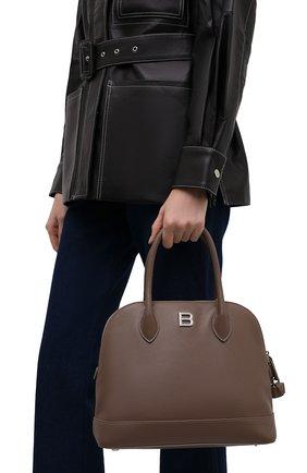 Женская сумка ville small BALENCIAGA коричневого цвета, арт. 645011/1Y53Y | Фото 2 (Размер: small; Материал: Натуральная кожа; Ремень/цепочка: На ремешке; Сумки-технические: Сумки top-handle)