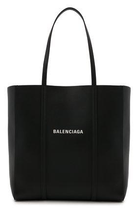 Женский сумка-тоут everyday s BALENCIAGA черного цвета, арт. 551812/D6W2N | Фото 1 (Материал: Натуральная кожа; Сумки-технические: Сумки-шопперы; Размер: small, medium)