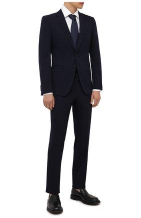 Мужская хлопковая сорочка BOSS белого цвета, арт. 50454001 | Фото 2 (Длина (для топов): Стандартные; Рукава: Длинные; Материал внешний: Хлопок; Случай: Формальный; Рубашки М: Regular Fit; Манжеты: На пуговицах; Принт: Однотонные; Воротник: Кент; Стили: Классический)