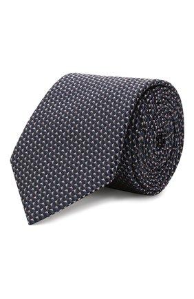 Мужской шелковый галстук HUGO синего цвета, арт. 50454882 | Фото 1