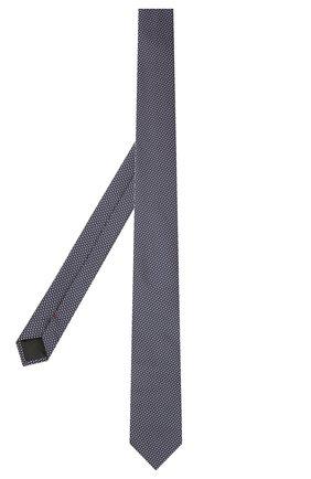 Мужской шелковый галстук HUGO синего цвета, арт. 50454882 | Фото 2
